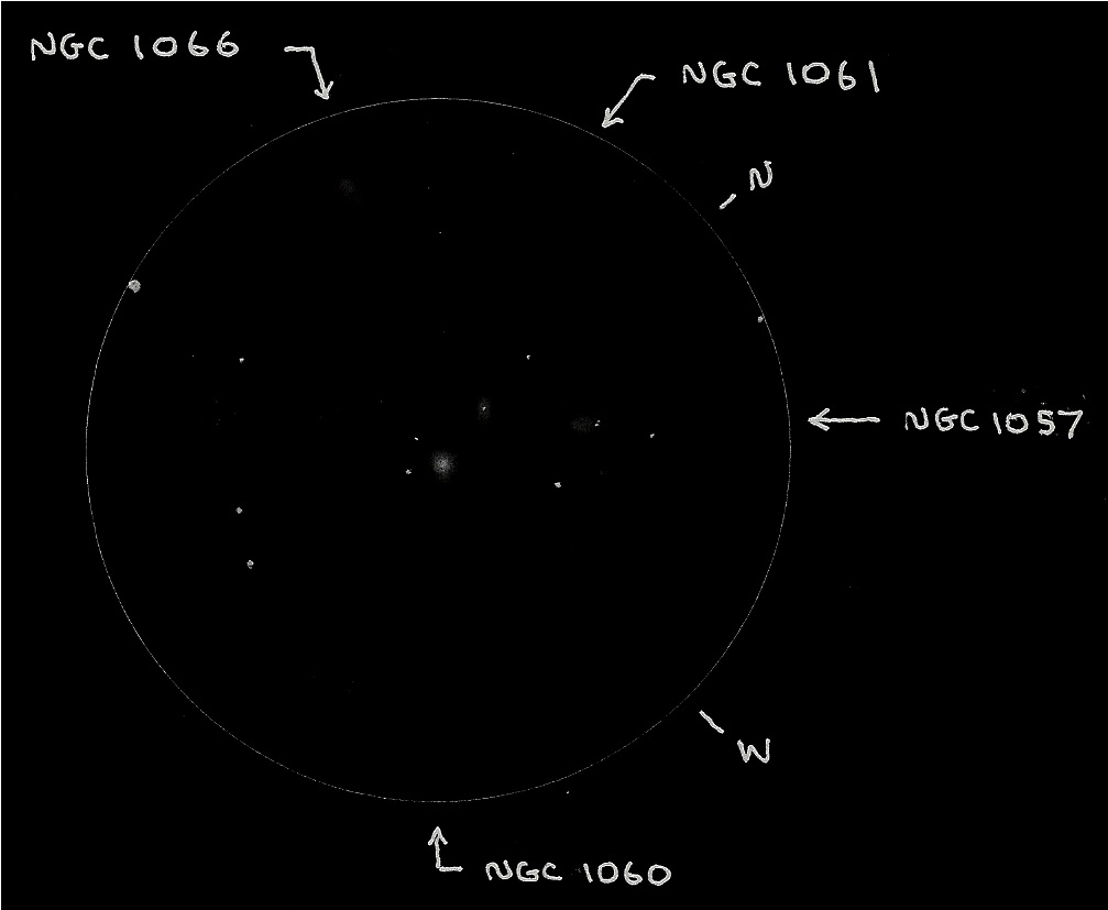 Astronomical League GG&C Trio #9 - Copyright (c) 2013 Robert D. Vickers, Jr.