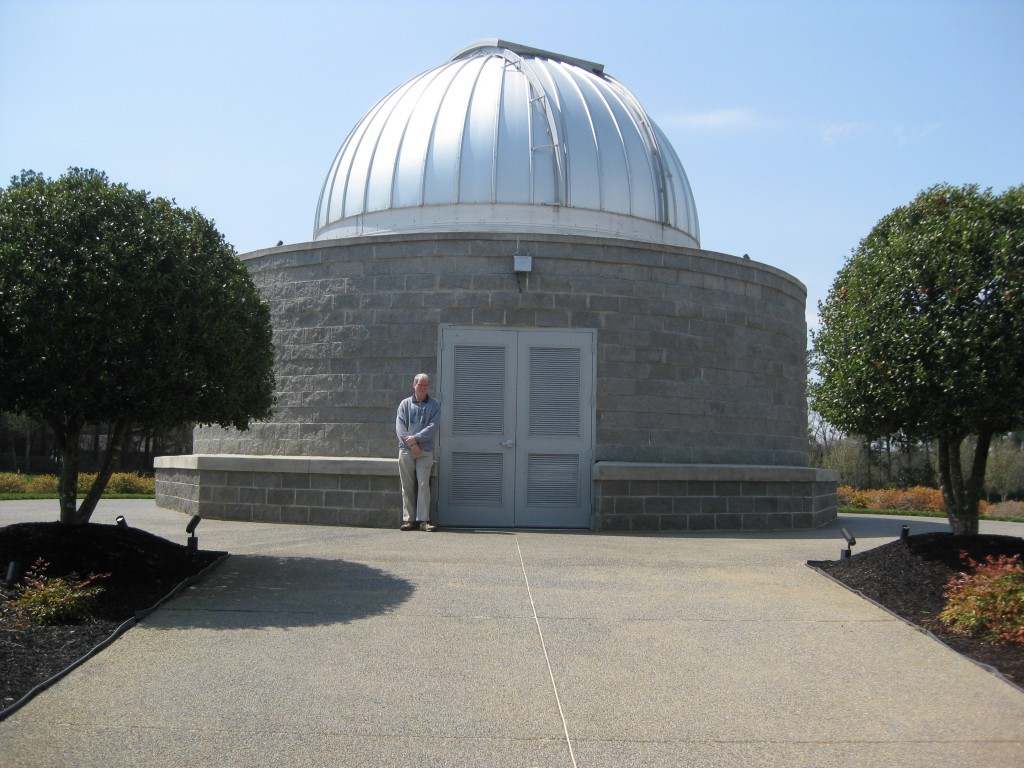 "Me in front of the Tellus Science Museum Observatory which houses a 20"" scope. Copyright (c) 2013 Robert D. Vickers, Jr."