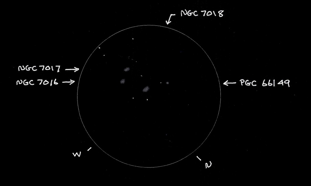 GG&C A.L. Trio #41 (NGC 7018 Trio) - Copyright (c) 2013 Robert D. Vickers, Jr.