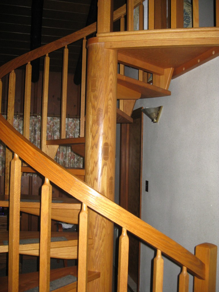 Cool spiral staircase in our lakeside cabin - Copyright (c) 2014 Robert D. Vickers, Jr.